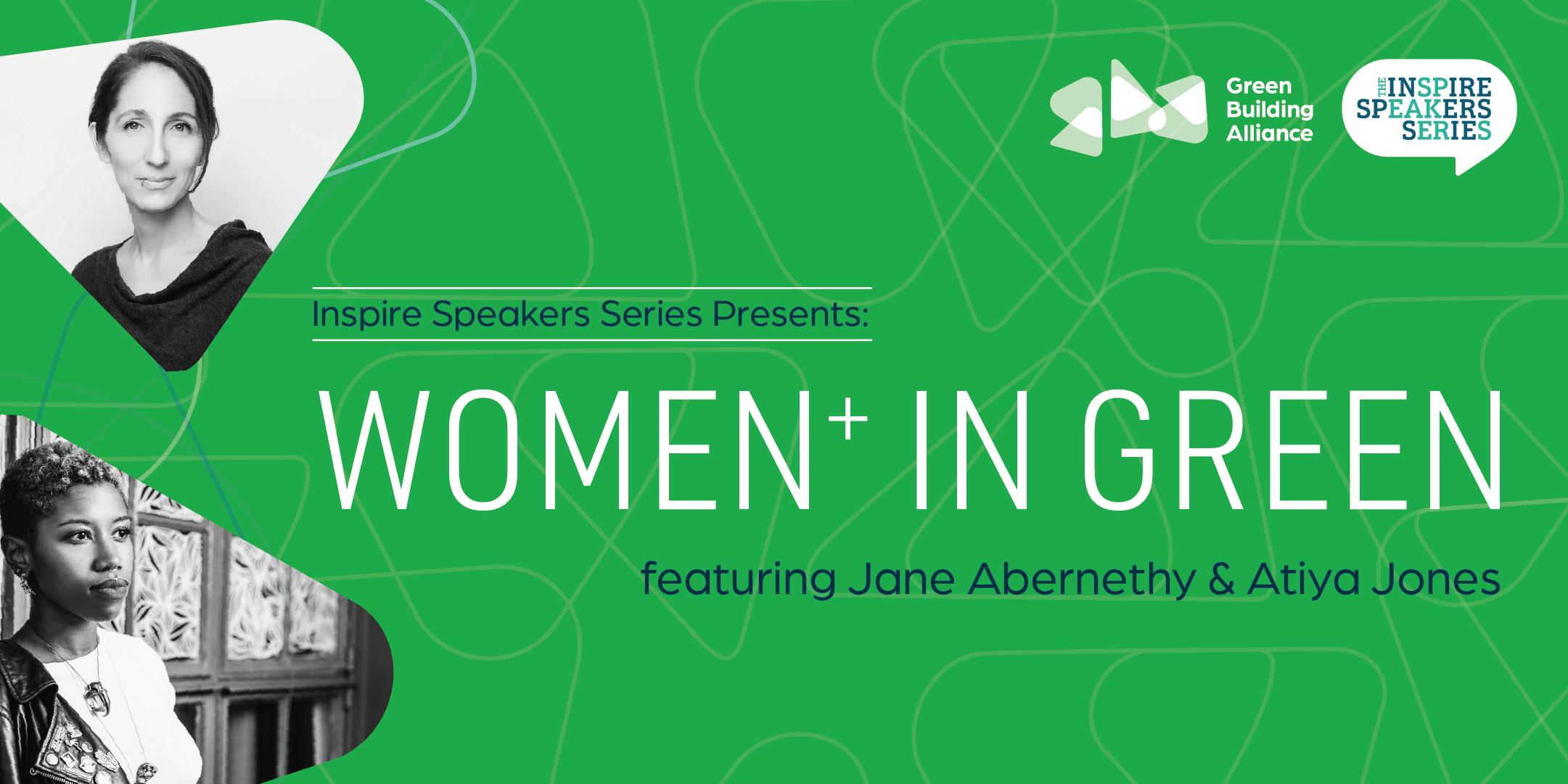 Green Building Alliance Women in Green Inspire Speakers Series